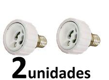2 Adaptadores de casquillo de E14 a GU10  Envio España