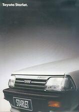 Toyota Starlet Prospekt 1987 3/87 brochure Autoprospekt broszura broschyr Auto