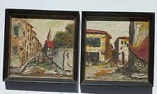 PAIR Homer Costello Street City Scene Landscape Paintings