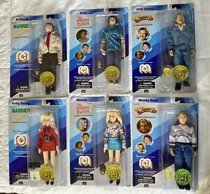 """Mego Classic TV Lot Brady Bunch Cheers Married With Children 8"""" Action Figures"""