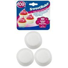 "Mini White Cupcake Baking Cups Paper Cupcakes Muffins 1.5"" 100 PIECE"