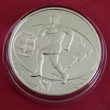 NEW ZEALAND 2005 RUGBY LIONS TOUR $1 REVERSE FROSTED SILVER PROOF