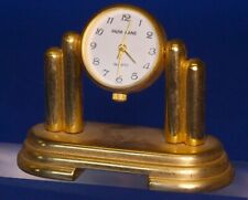 Vintage miniature brass clock, working order H:40mm *[19725]