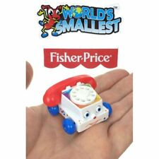 Miniature Fisher Price CHATTER PHONE Toy Eyes Doll House Barbie Worlds Smallest