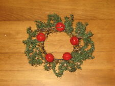 "Pine Wreath W/ 5 Red Metal Bells For Up To 2 3/4"" Candle"
