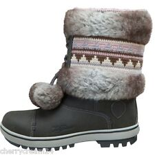 Helly Hansen Iskoras Grey & Two Tone Pom Poms Women's Girls Winter Boots UK 2.5