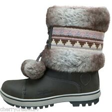 Helly Hansen Iskoras Grey & Two Tone Pom Poms Women's Girls Snow Boots UK 2.5