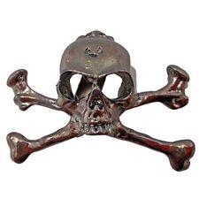 Stainless Steel Skull Pirate Lapel Crossbone Pin Badge Halloween Costume Brooch