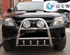 TOYOTA HILUX BULL BAR CHROME AXLE NUDGE A-BAR 60mm 2006-2011 ON OFFER NEW