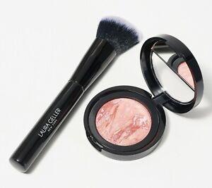 Laura Geller Blush-n- Brighten with Brush Pink Butter Cream A379225 QVC