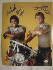 Erik Estrada & Larry Wilcox Signed CHiPs 11x14 Photo - JSA (WP) COA