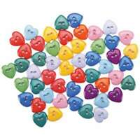 Dress It Up Embellishments-Mini Simple Heart Buttons - Primary 787117500912