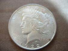 1922 Bu Obverse Doubling On Date, Chin, Nostril, Lip Peace Silver Dollar - L50
