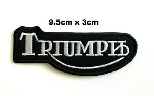 Triumph Patch Motorcycle Dayton Iron On Sew on Embroidered Badge patch