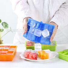 4x Eiswürfelform XXL Jumbowürfel Eis-Maker Riesenwürfel Silikonform 15-Fach Eis