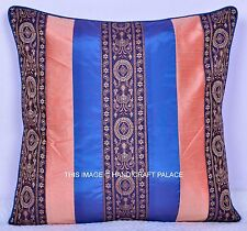 "16"" Ethnic Indian Patchwork Silk Sofa Throw Cushion Cover Pillow Sham Bohemian"