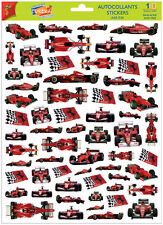 A4 Sticker Sheet Red Racing Cars for Scrapbooking & Cardmaking over 60 Cars NEW