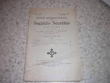 1929.revue internationale des sociétés secrètes.N°18.franc-maçonnerie