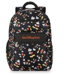 New Walt Disney World Mickey Mouse Poses Park Exclusive Black Backpack Bag