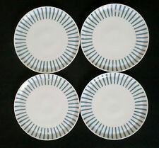 50s 4 x assiette Jupp Ernst Melitta Zürich Rayures bleus annees 50