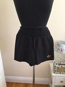 Adidas Originals Ladies Shorts Size 8/10? Black/Gold