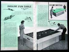Combo Pool Table-Ping Pong-HO Train Layout How-To build PLANS