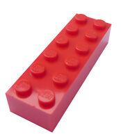 Lego 50 Stück rote Steine 2x6 Stein in rot (2456) Basics City Baustein Neu