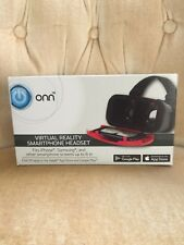 Onn Virtual Reality Headset For Smart Phone - Red