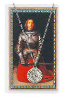 St. Joan of Arc Medal Necklace with Laminated Prayer Card