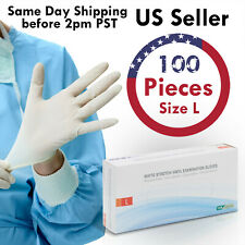 100PCS Vinyl Examination Gloves (Powder Free / Non-Sterile / Non-Latex) - Large
