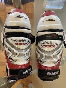 Bayer Ice HOCKEY junior Shin Knee Guards Pads 13' 35 Sm 8-12 Years RRP $105