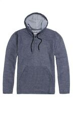 HURLEY STATIC HENLEY BLUE HOODIE DOUBLE KNIT SHIRT MEN'S GUYS SIZE S SMALL