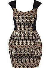 BNWT Stunning River Island Baroque Print Studded Evening Occasion Dress Size 10