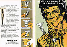 PUBLICITE  1974   GILLETTE   rasoir TECHMATIC ( 2 pages)