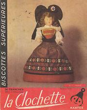 Buvard Vintage  Biscottes La Clochette Nantes  Costume  No 6 Alsace