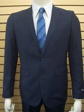 Men's Navy Blue Nailshead 2 Button Slim Fit Suit SIZE 36S NEW