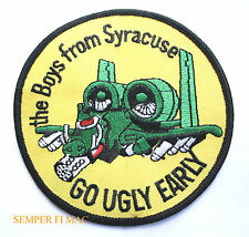 A-10 WARTHOG HAT PATCH US AIR FORCE BOYS FROM SYRACUSE HANCOCK AFB GO UGLY EARLY