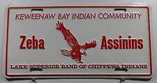 """USA Nummernschild """"KEWEENAW BAY INDIAN COMMUNITY"""" mit Adler Boosterschild. 8072."""