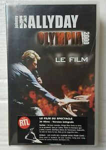 "JOHNNY HALLYDAY ( VHS NEUVE ) ♦ ""OLYMPIA 2000"" - LE FILM  ♦"