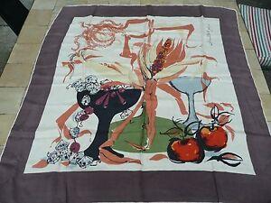 foulard vintage soie