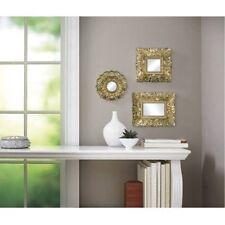 Espejo De Pared Plata Envejecida Ovalado 45 X 38cm Barroca Antiguo Reproducción Espejos Arte Y Antigüedades