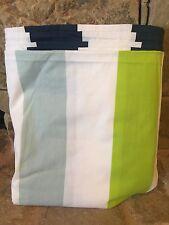 NEW WEST ELM KING DUVET COVER PREP STRIPE INK BLUE GREEN WHITE 108X72