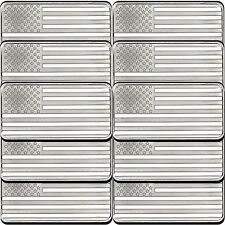 American Flag 10oz .999 Silver Bar (10pc)
