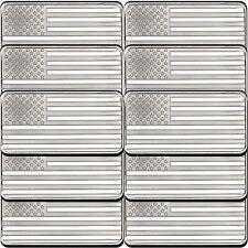 American Flag 10oz .999 Silver Bar (10pc)