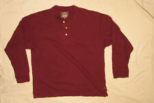 LEVI'S MENS SHIRT LARGE L HENLEY BASE LAYER 100% COTTON RED TAB 3 BUTTON LS