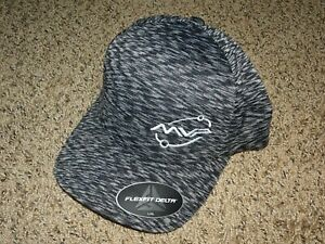 NEW MVP Disc Golf Logo FlexFit Delta Unipanel Hat - L/XL Melange Black