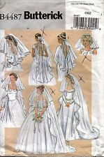Butterick Sewing Pattern 4487 Bridal Veils Wedding Headpiece 6 Styles One Size