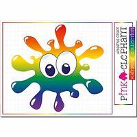 Splash - Fleck - 20 cm x 19 cm - Aufkleber sticker Regenbogen rainbow 29