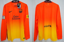 2012-2013 FC Barcelona Barca FCB Jersey Shirt Away Qatar Foundation L/S XL BNWT