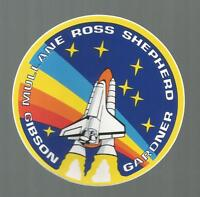"""NASA SHUTTLE ATLANTIS STS-27 CREW PATCH SPACE  DECAL STICKER 3 1/2"""""""